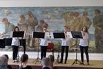 Chicas kvartet: Sára Gašparová, Dorota Ondrůšková, Tina Valeriánová a Natálie Kutálková - zobcové flétny. Vyučující Andrea Pavlušová. I na hlavice zobcové flétny se dá dělat velká muzika.