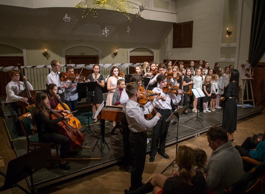 Vánoční koncert obrazem